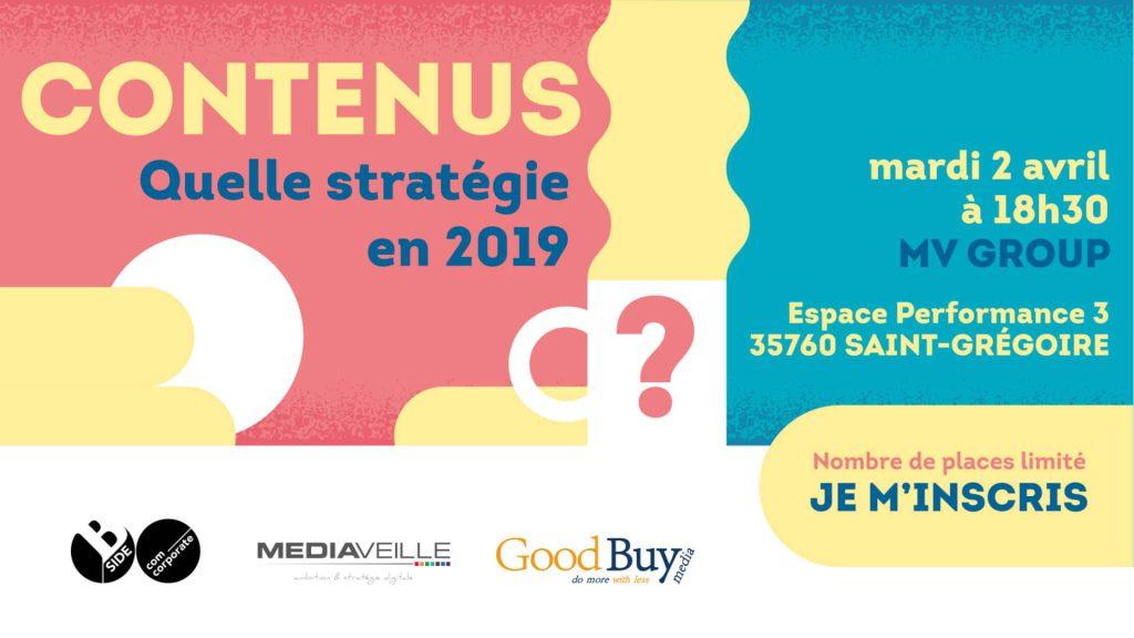 """CONFÉRENCE - """"Contenus: Quelle stratégie en 2019 ?"""" - Rennes"""
