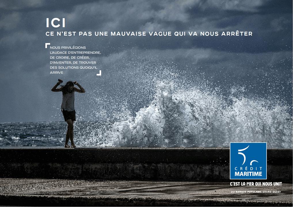 campagne publicitaire 2020 Crédit Maritime Grand Ouest
